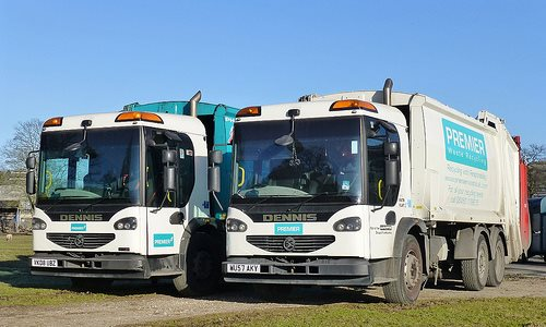 Premier Waste trucks