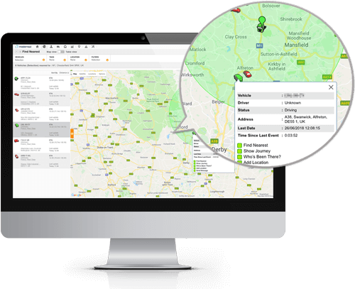 Online vehicle tracking software